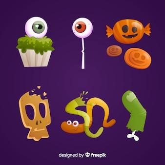 Geschmackvolle bonbons für halloween-nacht