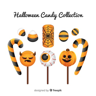 Geschmackvolle halloween-süßigkeitsammlung