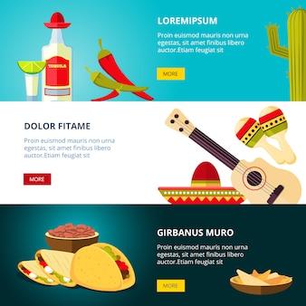 Geschmackvolles mexikanisches traditionelles küchelebensmittel-restaurantmuster