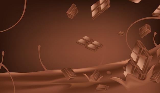 Geschmolzene schokoladenvektorillustration