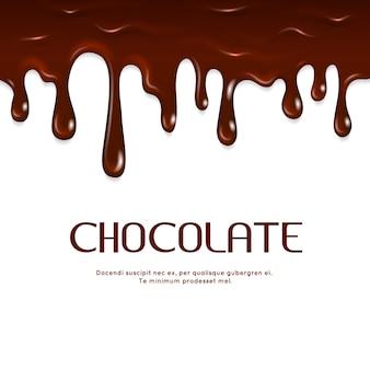 Geschmolzene tropfende schokolade