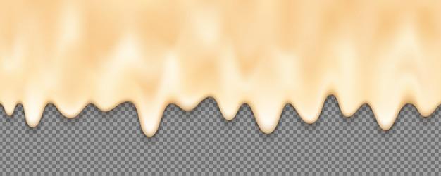 Geschmolzener sahnehintergrund mit einem editable hintergrund.
