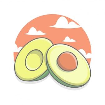 Geschnittene avocados, die appetit machen