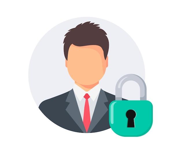 Geschütztes persönliches profil . privater benutzer. gesperrtes benutzerkonto