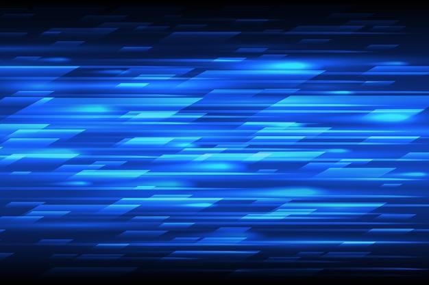 Geschwindigkeit abstrakte technologie hintergrund. blaues bewegliches entwurfsmuster der schnellen linien. technologische blaue helle musterillustration