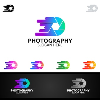 Geschwindigkeits-kamera-fotografie-logo