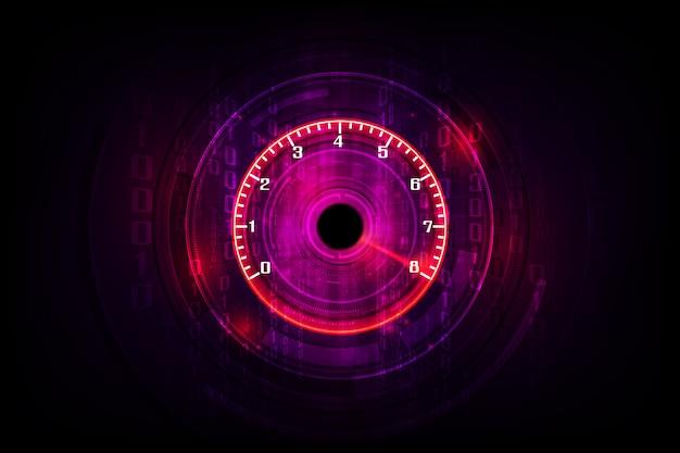 Geschwindigkeitsbewegung mit schnellem geschwindigkeitsmesserauto. racing velocity hintergrund.