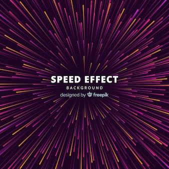 Geschwindigkeitseffekt zurück