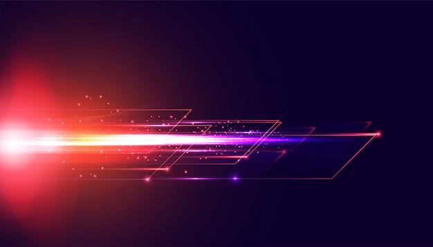 Geschwindigkeitsentwicklung der abstrakten technologie hi tech hintergrundkonzept