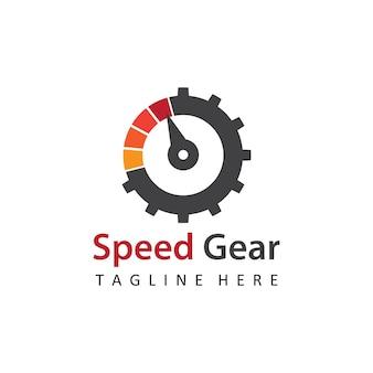 Geschwindigkeitsgetriebe-automotive-logo-vorlagen-design-vektor