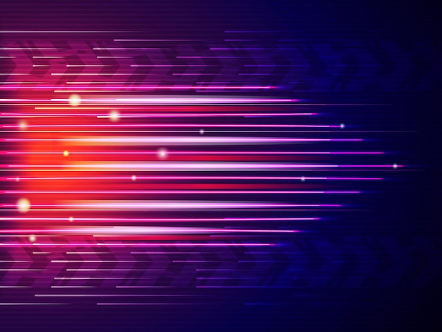 Geschwindigkeitslinienhintergrund. abstrakte farbige digitale formen bewegen auto schnelle linien.