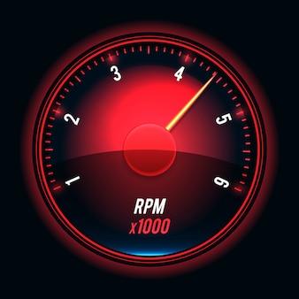 Geschwindigkeitsmesser. moderne ungewöhnliche illustration des glänzenden stils