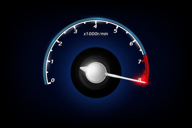 Geschwindigkeitsmesser. .