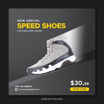 Geschwindigkeitssportschuhe promotion social media post facebook-banner