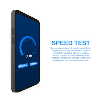 Geschwindigkeitstest auf smartphone-vorlage