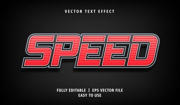 Geschwindigkeitstext-effekt, bearbeitbarer textstil