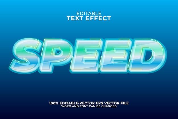 Geschwindigkeitstext-effekt isoliert auf blau