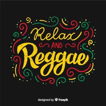 Geschwungene linien text reggae hintergrund