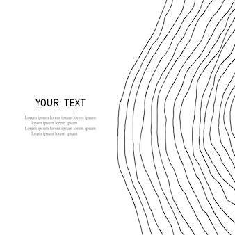 Geschwungene linien von hand gezeichnet. abstrakter druck. abstrakte geometrische hintergrundkunst. minimalistische kunst. skandinavischer druck. vektor-illustration