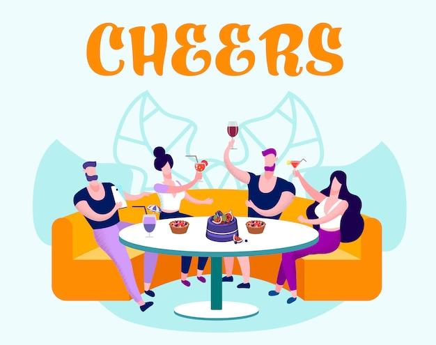 Gesellschaft junger menschen feiern, feiern