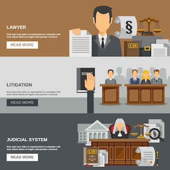 Gesetz-fahnen-set