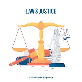 Gesetz und gerechtigkeitskonzept