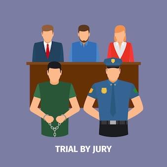 Gesetzeskonzept mit gerichtsverfahren