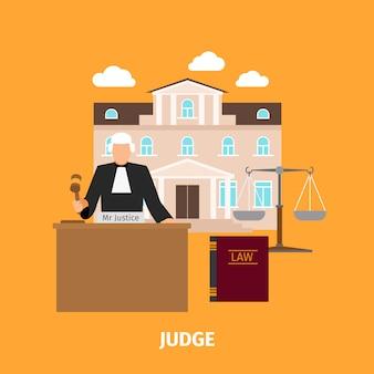 Gesetzeskonzept mit richter