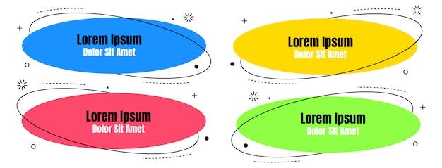 Gesetzte abstrakte bunte flüssigkeit geometrisch für fahne