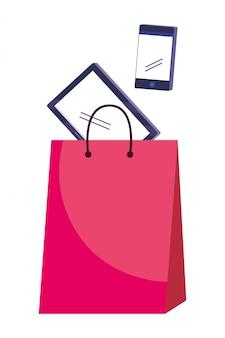 Gesetzte illustration der einkaufsikone