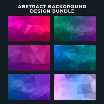 Gesetzte sammlung des abstrakten hintergrunddesigns