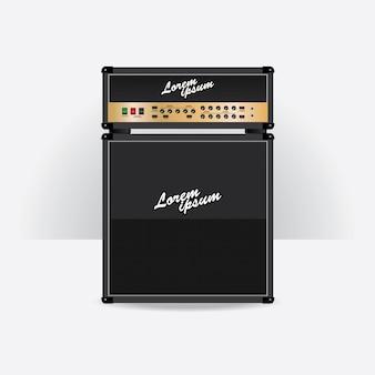 Gesetzte vektorillustration des gitarrenverstärkers