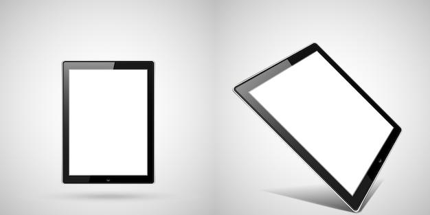 Gesetztes gerät der isometrischen illustration des tablets.
