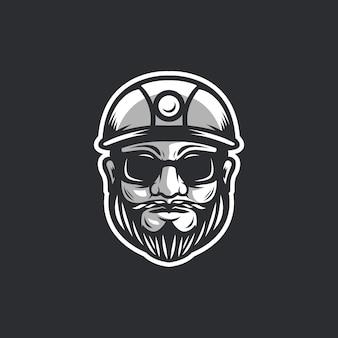 Gesicht arbeiter logo vorlage