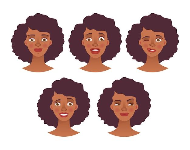 Gesicht der afrikanischen frau - set