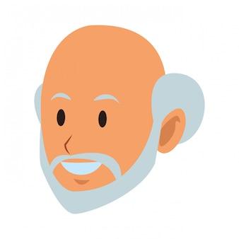 Gesicht des alten mannes