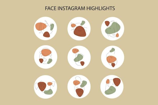Gesicht instagram highlight