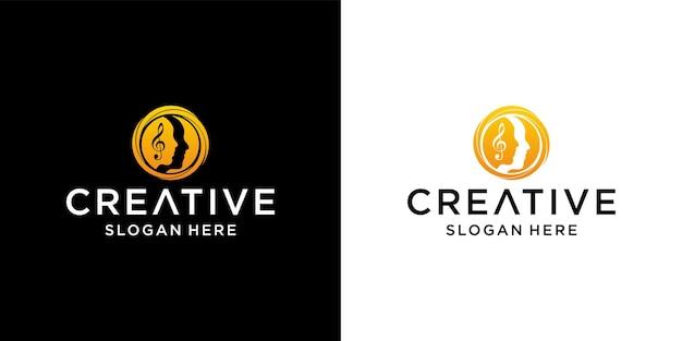 Gesicht mädchenkreis logo-design