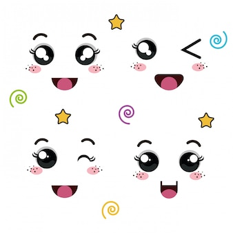 Gesichter von emoticon