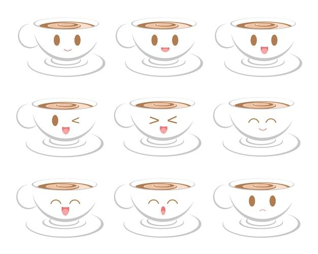 Gesichtsausdruck des kaffees