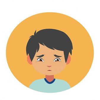 Gesichtsausdruck. kinder ausdruck abbildung charakter