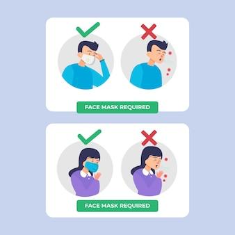 Gesichtsmaske erforderlich - zeichensammlung