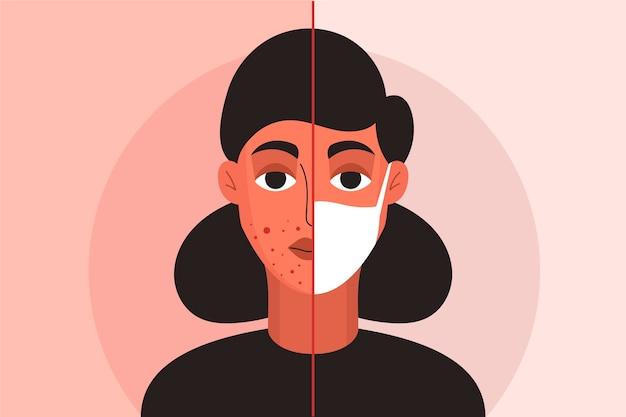 Gesichtsmaske illustrationsschablone