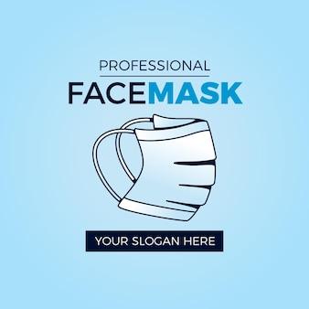 Gesichtsmaske logo vorlage