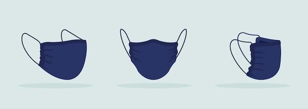 Gesichtsmaske ohne falten schwarzes mockup