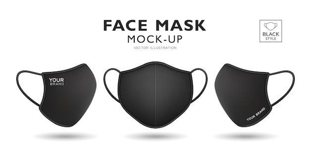 Gesichtsmaske stoff schwarze farbe