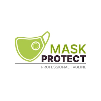 Gesichtsmasken-logo-konzept