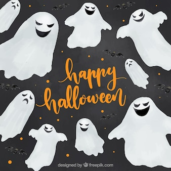 Gespenster, die dir ein glückliches halloween wünschen
