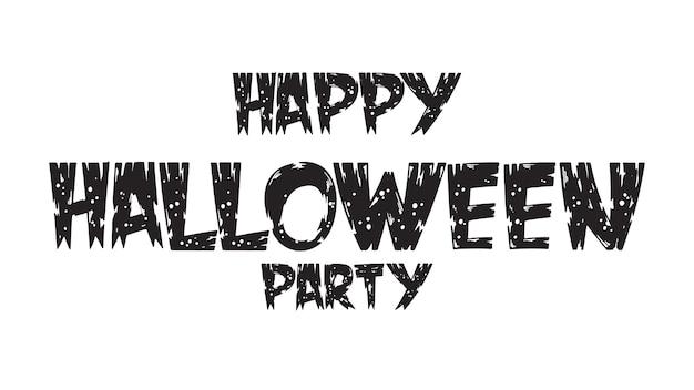 Gespenstischer glücklicher halloween-partytext