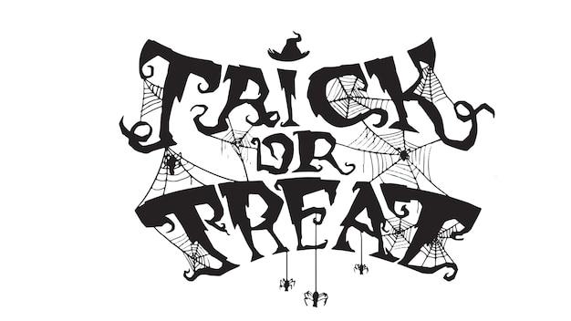Gespenstischer süßes sonst gibt's saures text mit spinnennetz